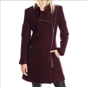 BB Dakota Grayson Asymmetrical Wool Blend Coat